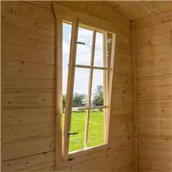 3.4m x 3m Retreat Apex Log Cabin - 19mm Wall Thickness (11ft x 10ft)