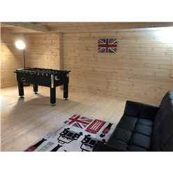 INSTALLED 4m x 5.1m Premier Home Office Apex Log Cabin (Single Glazing) - Free Floor & Felt (70mm) - INSTALLATION INCLUDED