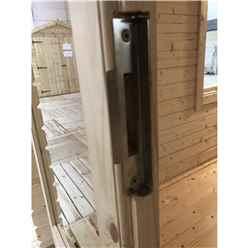 INSTALLED 4.8m x 5.4m Premier Home Office Apex Log Cabin (Single Glazing) - Free Floor & Felt (70mm) - INSTALLATION INCLUDED