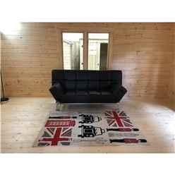INSTALLED 5m x 5.7m Premier Home Office Apex Log Cabin (Single Glazing) - Free Floor & Felt (70mm) - INSTALLATION INCLUDED