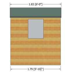 7ft x 5ft (2.04m x 1.61m) - Stowe Tongue & Groove - Apex Garden Shed / Workshop - 1 Opening Window - Single Door - 12mm Tongue and Groove Floor