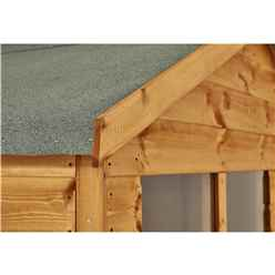 8ft x 4ft Premium Tongue and Groove Apex Shed - Single Door - 4 Windows - 12mm Tongue and Groove Floor and Roof