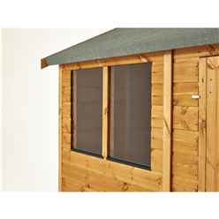 8ft x 6ft Premium Tongue and Groove Apex Shed - Single Door - 4 Windows - 12mm Tongue and Groove Floor and Roof