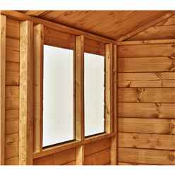 8ft x 6ft Premium Tongue and Groove Apex Shed - Double Doors - 4 Windows - 12mm Tongue and Groove Floor and Roof