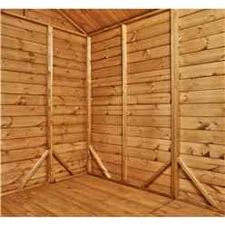 8ft x 6ft Premium Tongue and Groove Apex Shed - Double Doors - Windowless - 12mm Tongue and Groove Floor and Roof