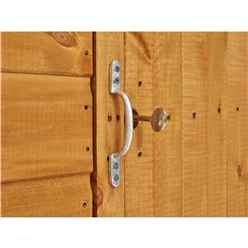 6ft x 4ft Premium Tongue and Groove Pent Shed - Double Doors - Windowless - 12mm Tongue and Groove Floor and Roof