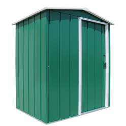 OOS - BACK W/C 15TH MARCH 2021 - 5ft x 4ft Value Apex Metal Shed - Green (1.62m x 1.22m)