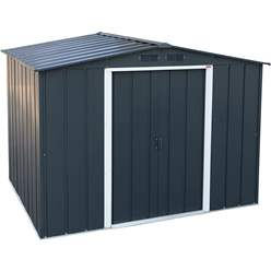 OOS - BACK MAY 2021 - 8ft x 6ft Value Apex Metal Shed - Anthracite Grey (2.62m x 1.82m)