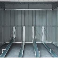 OOS - BACK SEPTEMBER 2021 - 6ft x 6ft Premier EasyFix – Pent – Metal Bike Store -Anthracite Grey (2.11m x 2.00m)