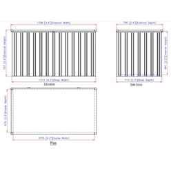 4ft x 2ft Value Metal Storage Box - Anthracite Grey (1.34m x 0.73m)