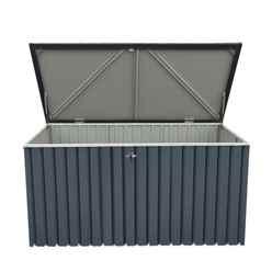 6ft x 2ft Value Metal Storage Box - Anthracite Grey (1.73m x 0.73m)