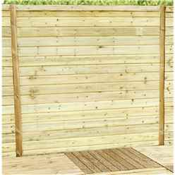 5FT (1.52m) Horizontal Pressure Treated 12mm Tongue & Groove Fence Panel - 1 Panel Only (Min Order 3 Panels) + Free Delivery*