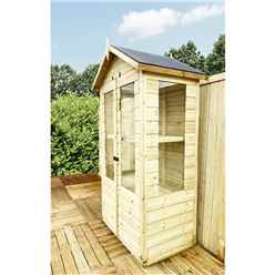 3ft x 2ft - Mini Greenhouse Pressure Treated Tongue And Groove