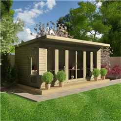 20ft x 8ft Garden Room 16mm Tongue and Groove (16mm Tongue and Groove Floor and Roof)