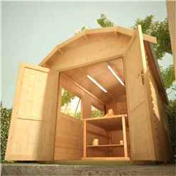 10ft x 8ft Neo Barn 28mm Log Cabin (19mm Tongue and Groove Floor and Roof) (2950x2350)
