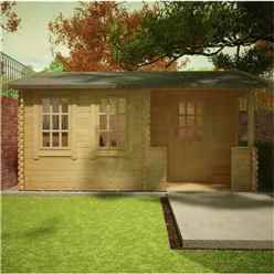 16ft x 12ft Amber 44mm Log Cabin (19mm Tongue and Groove Floor and Roof) (4750x3550)