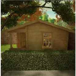 16ft x 14ft Amber 44mm Log Cabin (19mm Tongue and Groove Floor and Roof) (4750x4150)