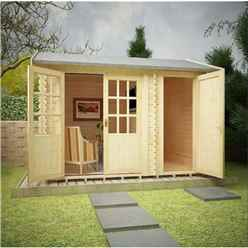 12ft x 8ft Storage 44mm Log Cabin (19mm Tongue and Groove Floor and Roof) (3550x2350)