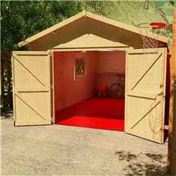 16ft x 10ft Monty Workshop 44mm Log Cabin (19mm Tongue and Groove Roof) (4750x2950)