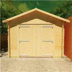 18ft x 14ft Monty Workshop 44mm Log Cabin (19mm Tongue and Groove Roof) (5350x4150)