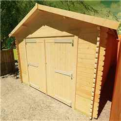 20ft x 14ft Monty Workshop 44mm Log Cabin (19mm Tongue and Groove Roof) (5950x4150)