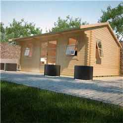 20ft x 12ft Neville 44mm Log Cabin (19mm Tongue and Groove Floor and Roof) (5950x3550)