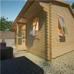 18ft x 18ft Neville 44mm Log Cabin (19mm Tongue and Groove Floor and Roof) (5350x5350)