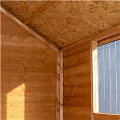 ** FLASH REDUCTION** 8ft x 6ft (2.39m x 1.83m) - Reverse - Super Value Overlap - Apex Wooden Shed - 1 Window - Single Door - 8mm Solid OSB Floor - CORE