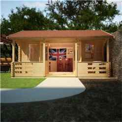 20ft x 18ft Leo 44mm Log Cabin (19mm Tongue and Groove Floor and Roof) (5950x5350)