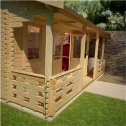 20ft x 20ft Leo 44mm Log Cabin (19mm Tongue and Groove Floor and Roof) (5950x5950)