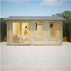 18ft x 10ft Ralph 44mm Log Cabin (19mm Tongue and Groove Floor and Roof) (5350x2950)