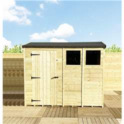 8FT x 4FT **Flash Reduction** REVERSE Super Saver Pressure Treated Tongue & Groove Apex Shed + Single Door + High Eaves (72