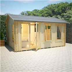18ft x 14ft Ralph 44mm Log Cabin (19mm Tongue and Groove Floor and Roof) (5350x4150)