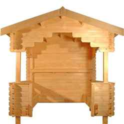 8ft x 8ft Outdoor Shelter (44mm Log Thickness) (2350x2350)
