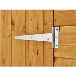 4ft x 4ft  Security Tongue and Groove Pent Shed - Single Door - 12mm Tongue and Groove Floor and Roof