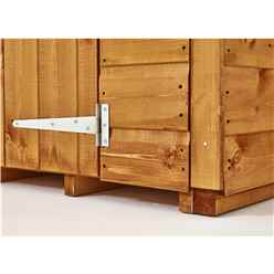 6ft x 4ft Security Tongue and Groove Pent Shed - Single Door - 12mm Tongue and Groove Floor and Roof
