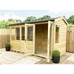 7ft x 9ft REVERSE Pressure Treated Tongue & Groove Apex Summerhouse with Higher Eaves and Ridge Height + Toughened Safety Glass + Euro Lock with Key + SUPER STRENGTH FRAMING