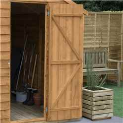 INSTALLED 4ft x 6ft (1.3m x 1.8m) Reverse Apex Dip Treated Overlap Shed With Single Door and 1 Window - Modular - INSTALLATION INCLUDED - CORE