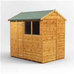 7ft x 5ft Premium Tongue And Groove Apex Shed - Single Door - 2 Windows - 12mm Tongue And Groove Floor And Roof
