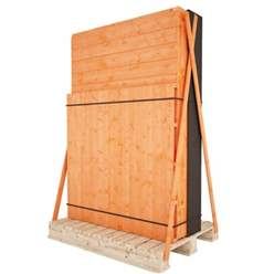 8ft x 6ft Windowless Tongue and Groove Shed with Double Doors (12mm Tongue and Groove Floor and Apex Roof)