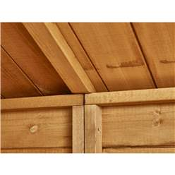 12ft x 6ft Security Tongue and Groove Pent Shed - Single Door - 6 Windows - 12mm Tongue and Groove Floor and Roof