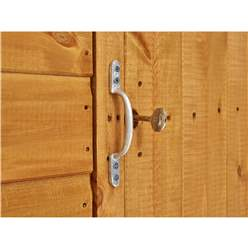 6ft x 6ft Security Tongue and Groove Apex Shed - Double Doors - 2 Windows - 12mm Tongue and Groove Floor and Roof