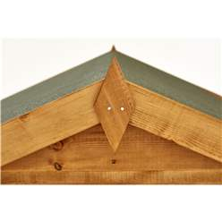 8ft x 6ft Security Tongue and Groove Apex Shed - Single Door - 4 Windows - 12mm Tongue and Groove Floor and Roof