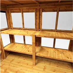 20ft x 6ft Premium Tongue and Groove Pent Potting Shed - Double Doors - 24 Windows - 12mm Tongue and Groove Floor and Roof