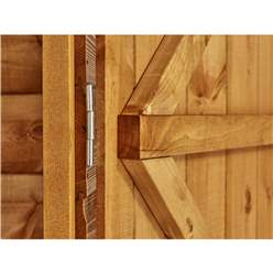 7 x 5 Security Tongue and Groove Pent Shed - Single Door - 2 Windows - 12mm Tongue and Groove Floor and Roof
