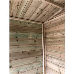8ft x 6ft Pressure Treated T&G Apex Summerhouse with Higher Eaves and Ridge Height - LONG WINDOWS + Overhang + Toughened Safety Glass + Euro Lock with Key + SUPER STRENGTH FRAMING + EXTRA SIDE WINDOWS
