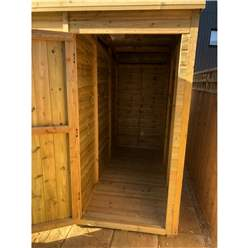 10ft x 7ft COMBI Pressure Treated Tongue & Groove Pent Summerhouse with Higher Eaves and Ridge Height + Side Summerhouse + Toughened Safety Glass + Euro Lock with Key + SUPER STRENGTH FRAMING