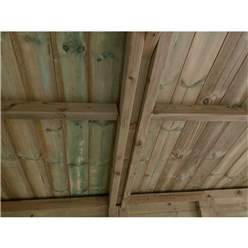 11FT x 12FT WINDOWLESS REVERSE PREMIER PRESSURE TREATED TONGUE & GROOVE APEX WORKSHOP + HIGHER EAVES & RIDGE HEIGHT + DOUBLE DOORS (12mm Tongue & Groove Walls, Floor & Roof) + SUPER STRENGTH FRAMING