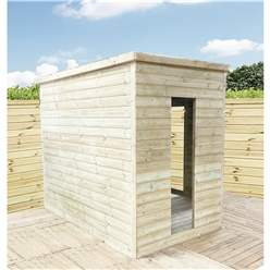 7ft x 7ft Corner Pressure Treated T&G Pent Summerhouse + Safety Toughened Glass + Euro Lock with Key + SUPER STRENGTH FRAMING