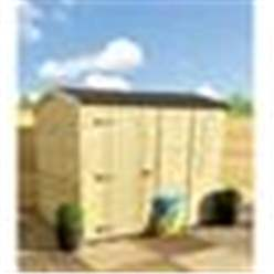 3FT x 4FT **Flash Reduction** REVERSE Windowless Super Saver Pressure Treated Tongue & Groove Apex Shed + Single Door + High Eaves (72